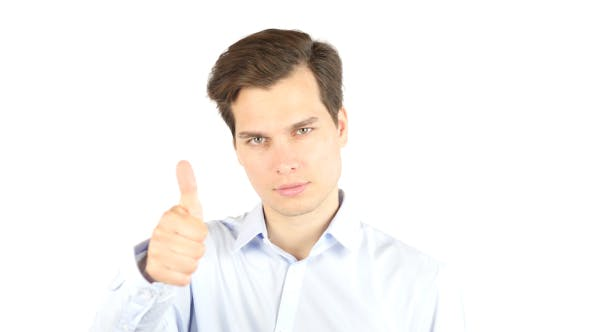 Thumbnail for Businessman Thumbs Up for Successful Plan