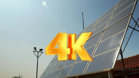 Solar Battery And Bright Sun Shining