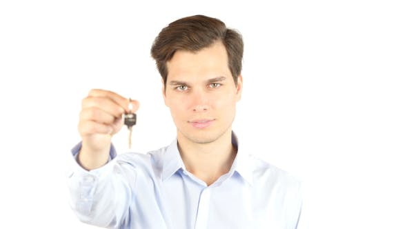 Thumbnail for Property Agent , Businessman Offer Keys of New House, Office