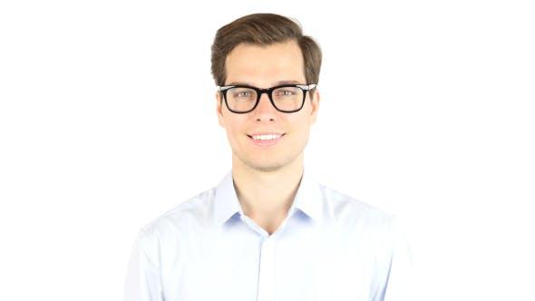 Thumbnail for Smiling Man in Glasses, Portrait