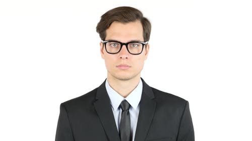 Portrait of  Young Businessman in Glasess