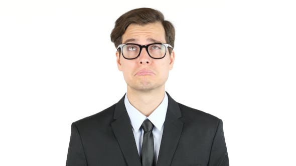 Thumbnail for Portrait of Sad Businessman in Glasses