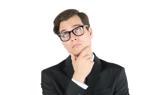 Thumbnail for Thinking Businessman in Glasses