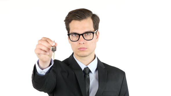 Thumbnail for Businessman offering Keys of New House, Home