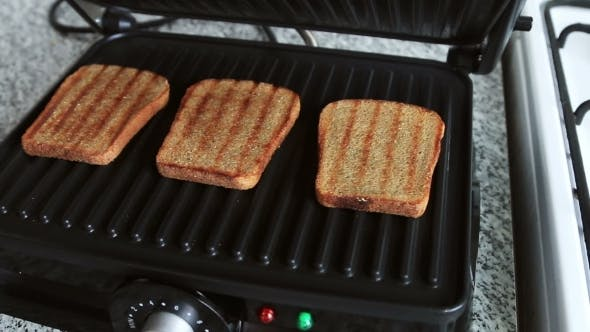 Thumbnail for Electric Grill Fry Bread For Sandwich