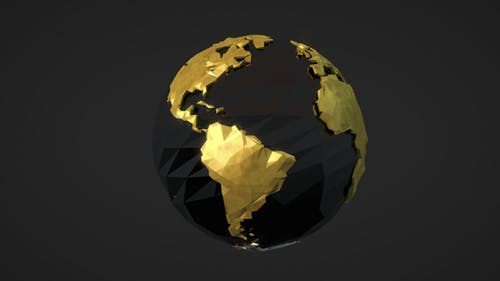 Low Poly Earth - Gold And Silver Versions