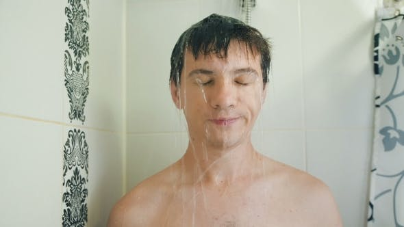 Thumbnail for Funny Drunk Man Taking a Shower
