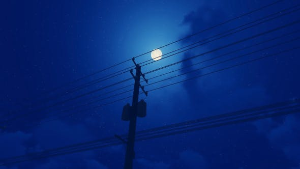 Thumbnail for Utility Pole - Night - Moon