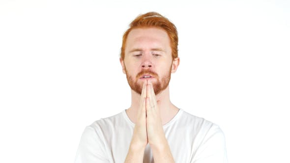 Thumbnail for Thoughtful Man Praying to God for Blessings