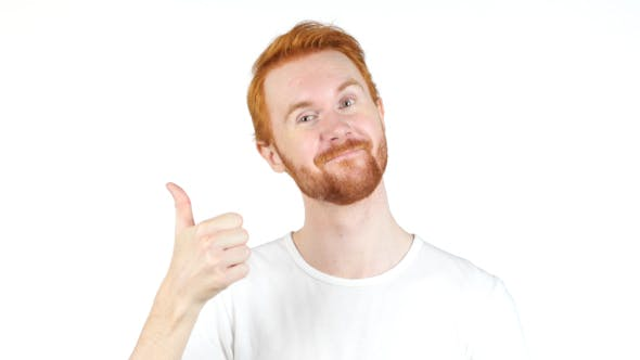 Thumbnail for Successful Positive Man, Gesture of Thumbs Up, Single Hand