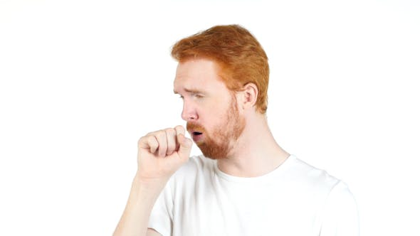 Thumbnail for Man with Beard Coughing, Sick Man