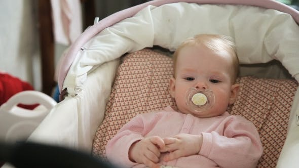 Thumbnail for Cute Little Baby With Pacifier.