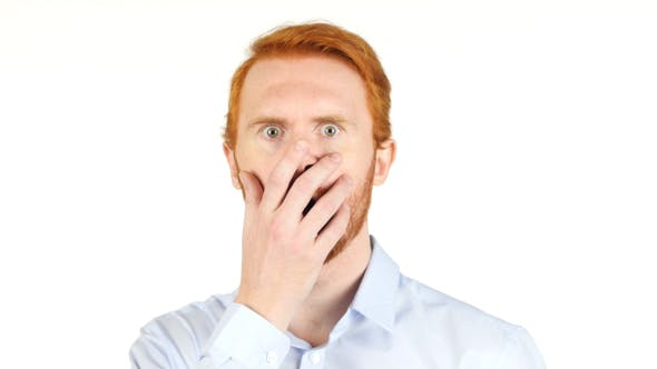 Cover Image for Loss for Surprised and Amazed Businessman w/ Red Hairs and Beard