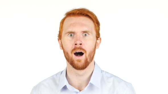 Thumbnail for Surprised and Amazed Businessman w/ Red Hairs and Beard