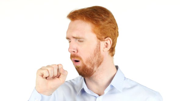 Thumbnail for Coughing Sick  Businessman w/ Red Hairs and Beard