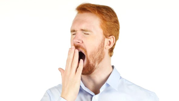 Thumbnail for Yawning Tired Businessman w/ Red Hairs and Beard