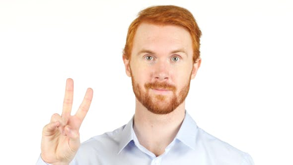 Thumbnail for Victory Sign, Businessman w/ Red Hairs and Beard