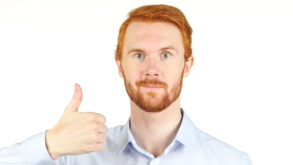 Cover Image for Thumbs Up,  Businessman w/ Red Hairs and Beard