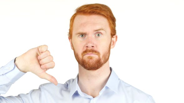 Thumbnail for Thumbs Down,  Businessman with Red Hairs and Beard