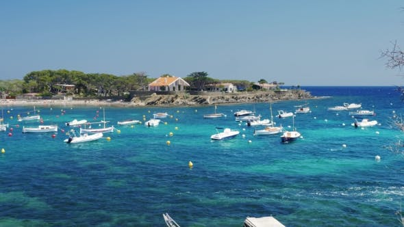 Thumbnail for Place Paradise Holiday - Bungalows And The Sea With Yachts And Boats