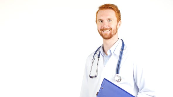 Thumbnail for Smiling Positive Doctor holding Medical Documents