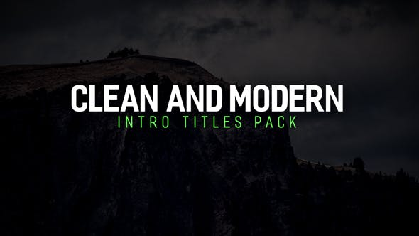 Thumbnail for Modern Intro Titles Pack