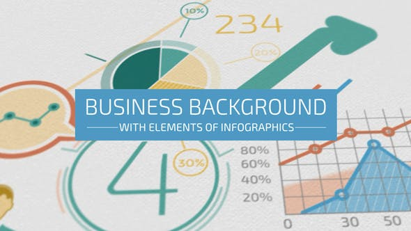 Thumbnail for Business Background With Elements Of Infographics