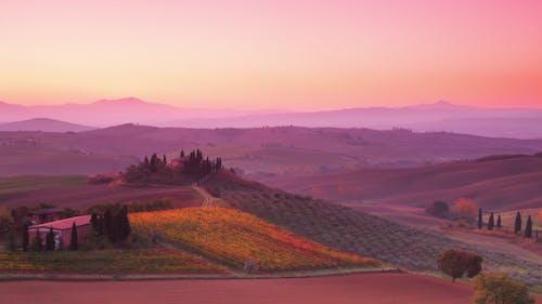 Sunrise over Tuscan