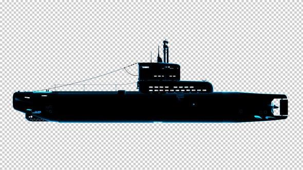 Thumbnail for Submarine - Uboot - 3D Outline