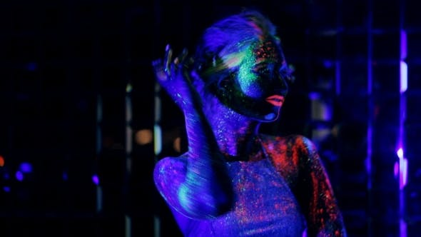 Thumbnail for Girl Dancing In The Ultraviolet Light