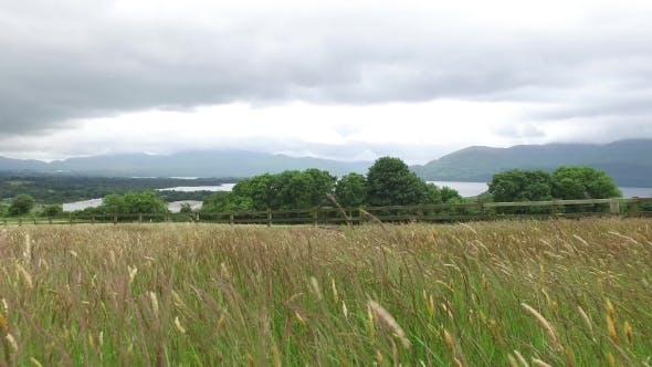 Thumbnail for View To Lake And Field At Connemara In Ireland 54