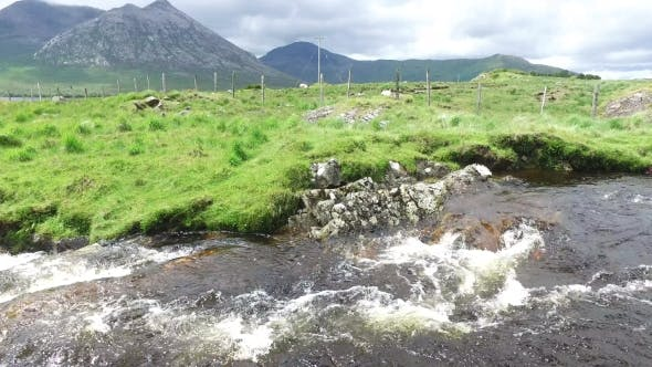 Thumbnail for View To River And Hills At Connemara In Ireland 33
