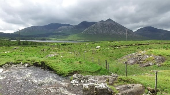Thumbnail for River And Hills At Connemara In Ireland 37