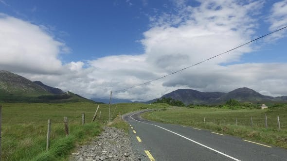 Cover Image for Asphalt Road At Connemara In Ireland  26