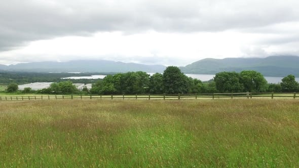 Thumbnail for View To Lake And Field At Connemara In Ireland 52