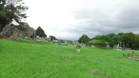 Thumbnail for Old Celtic Cemetery Graveyard In Ireland 63