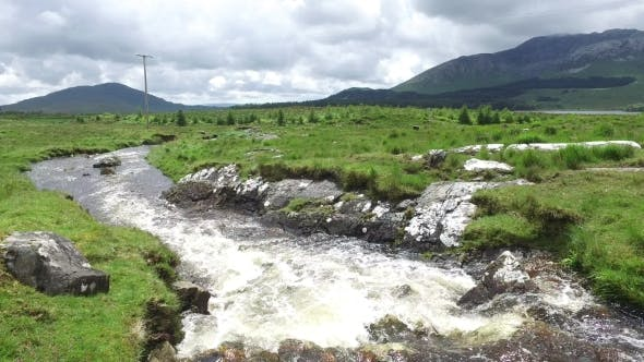 Thumbnail for River And Hills At Connemara In Ireland  35