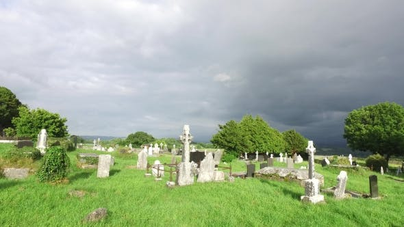 Thumbnail for Old Celtic Cemetery Graveyard In Ireland 65