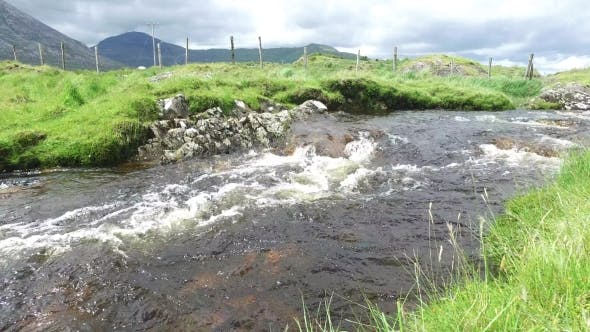 Thumbnail for River And Hills At Connemara In Ireland  34