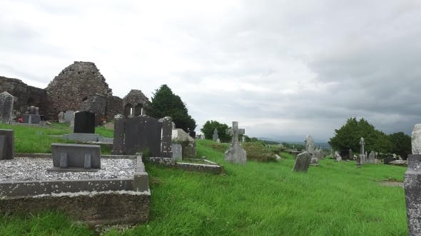 Cover Image for Old Celtic Cemetery Graveyard In Ireland 64