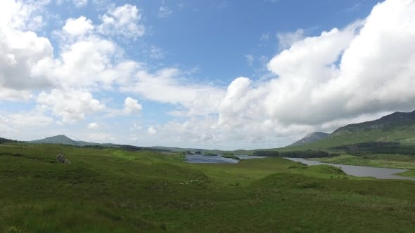 Thumbnail for View To Lake Or River At Connemara In Ireland 31