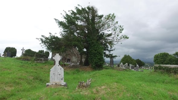 Thumbnail for Old Celtic Cemetery Graveyard In Ireland 62