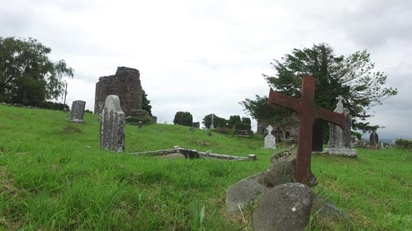 Cover Image for Old Celtic Cemetery Graveyard In Ireland 61