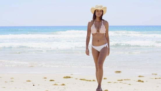Thumbnail for Shapely Young Woman In a Bikini