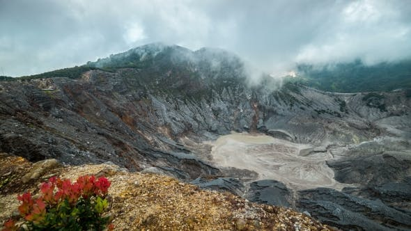 Thumbnail for Tangkuban Perahu, The Volcanic Crater In Lembang, West Bandung, Indonesia.   - Java, Indonesia, June