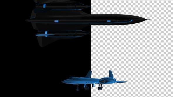 Thumbnail for 3D Militärjet - 3D Umrisse