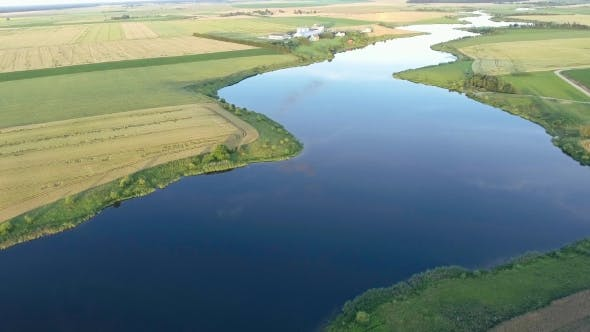 Thumbnail for Beautiful River Landscape. Aerial View