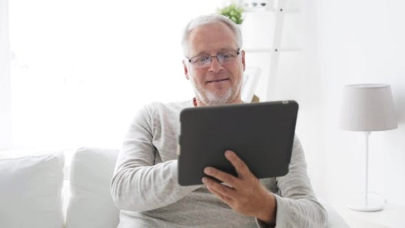Thumbnail for Senior Man With Tablet Pc At Home 9