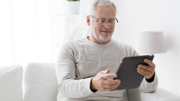 Thumbnail for Senior Man With Tablet Pc At Home 83