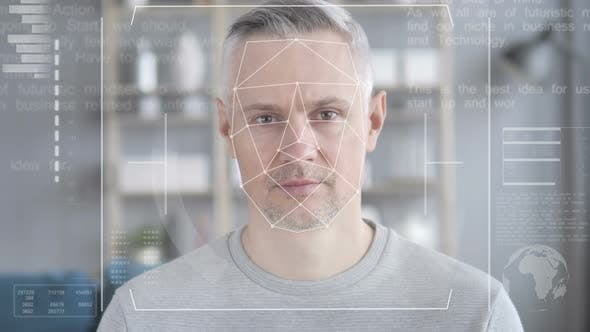 Thumbnail for Facial Recognition, Access Granted to Middle Aged Man